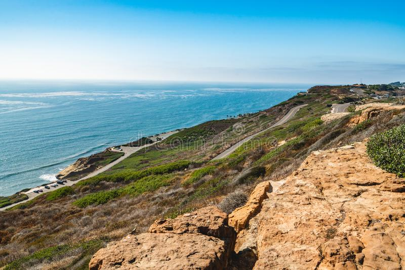 Scenic roads and bayside trails at Cabrillo National Monument, San Diego, California. Exploring Cabrillo. Scenic roads and bayside trails at Cabrillo National stock image