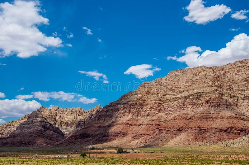 Scenic rocks in the desert of Arizona. Journey through the natural attractions of the USA royalty free stock photos