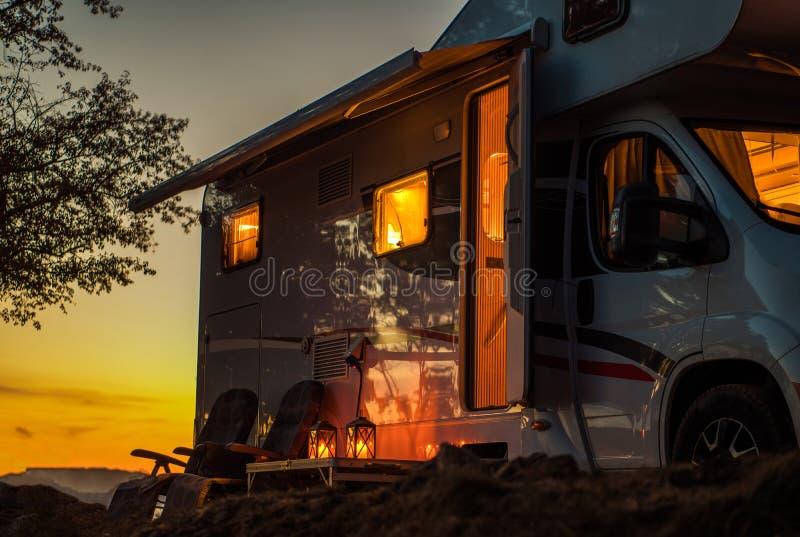 Scenic RV Camping Spot стоковые фото