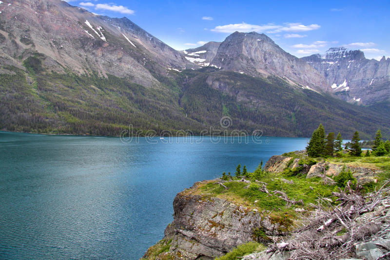 Download Scenic Saint Mary lake stock photo. Image of forces, river - 23302902