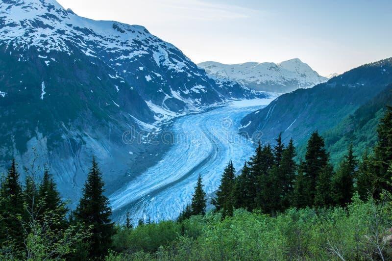 Scenic Salmon Glacier stock image