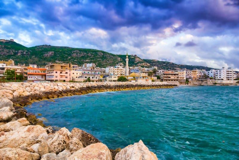 Tripoli, Lebanon. Scenic sea coast near Tripoli, Lebanon royalty free stock image