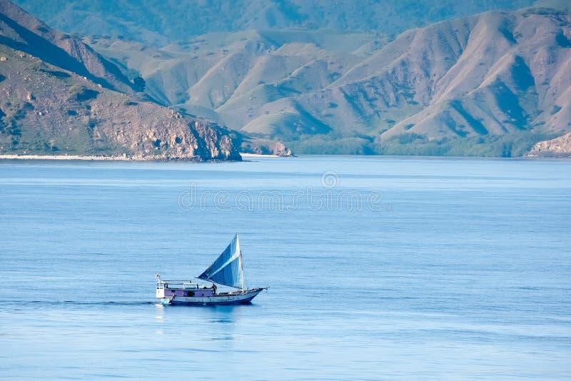 Scenic view of Komodo Island, Indonesia stock photography