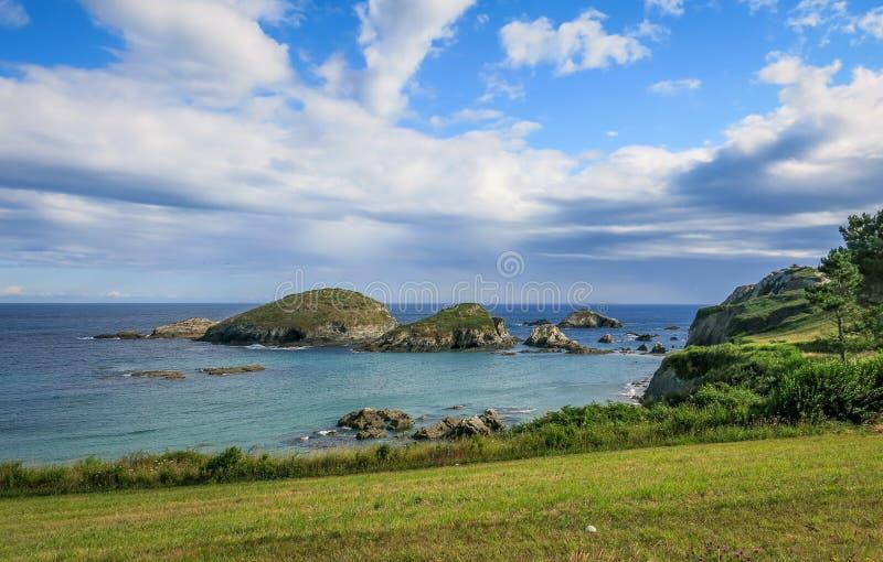 Scenic seascape at Punta de la Atalaya, Amortiza, Asturias, northern Spain stock photography
