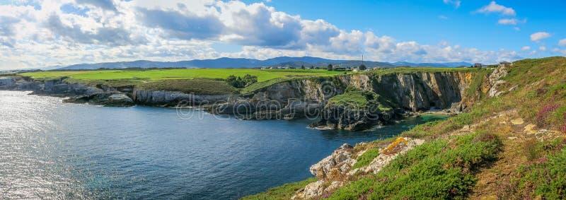 Scenic seascape at Punta de la Atalaya, Amortiza, Asturias, northern Spain royalty free stock photography