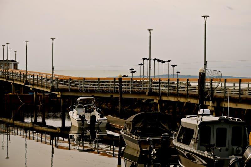 Edmonds Moorage boats 5. Scenic seaside town of Edmonds, Washington, moorage makes a walk tranquil and enjoyable stock photos