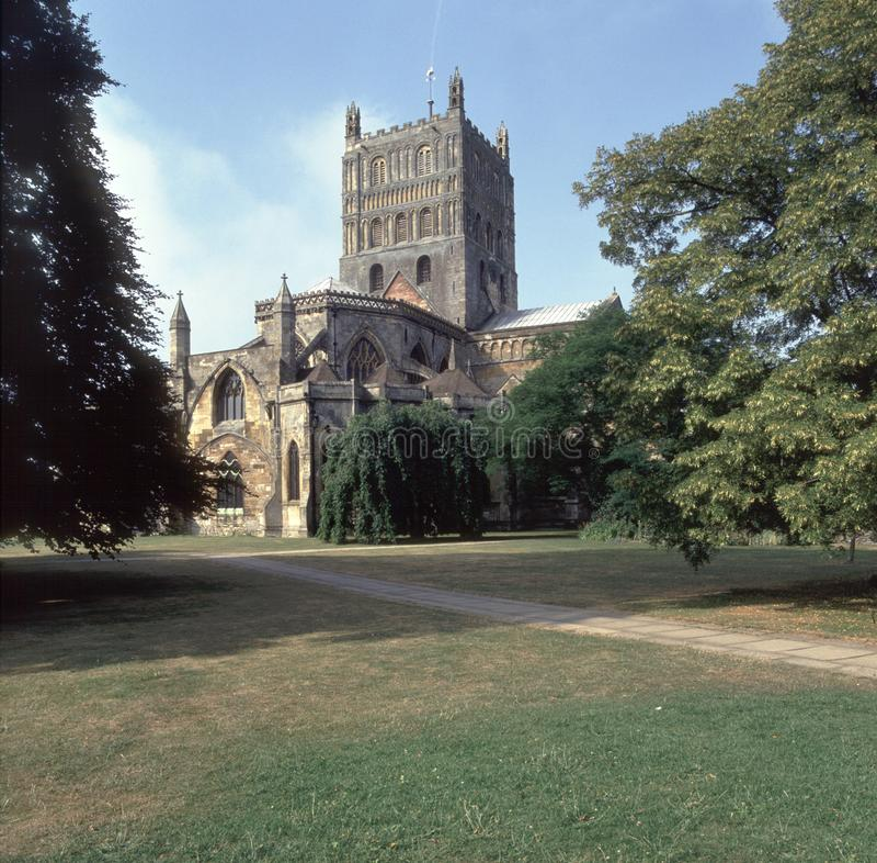 Scenic Severn Vale, Tewkesbury Abbey fotos de stock royalty free