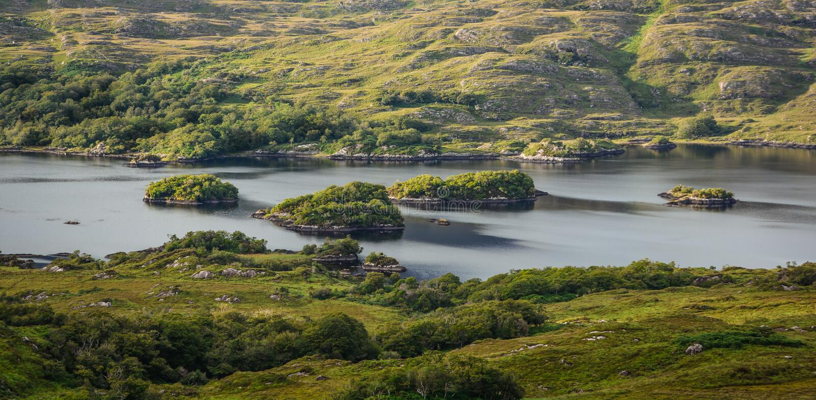 Scenic sight along the Ring of Kerry in Ireland. royalty free stock images