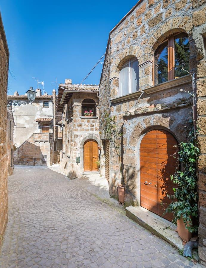 Scenic sight in Barbarano Romano, medieval village in Viterbo Province, Lazio, Italy. Barbarano Romano is a comune in the Province of Viterbo in the Italian stock photos