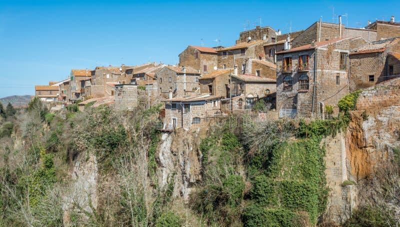 Scenic sight in Barbarano Romano, medieval village in Viterbo Province, Lazio, Italy. Barbarano Romano is a comune in the Province of Viterbo in the Italian royalty free stock image