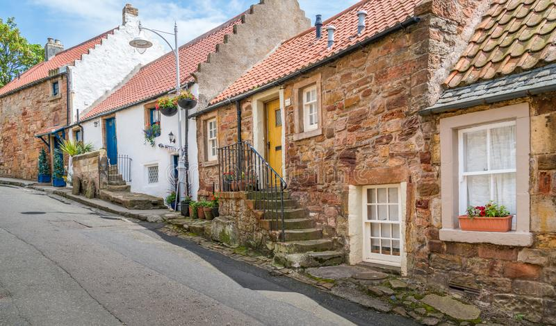 Scenic sight in Crail, small fishermen village in Fife, Scotland. Crail; Scottish Gaelic: Cathair Aile is a former royal burgh, parish and community council royalty free stock photos