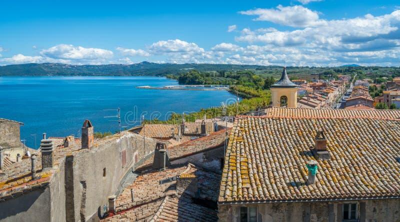 Scenic sight in Marta, on the Bolsena Lake, province of Viterbo, Lazio. Marta is a comune municipality in the Province of Viterbo in the Italian region Latium stock images