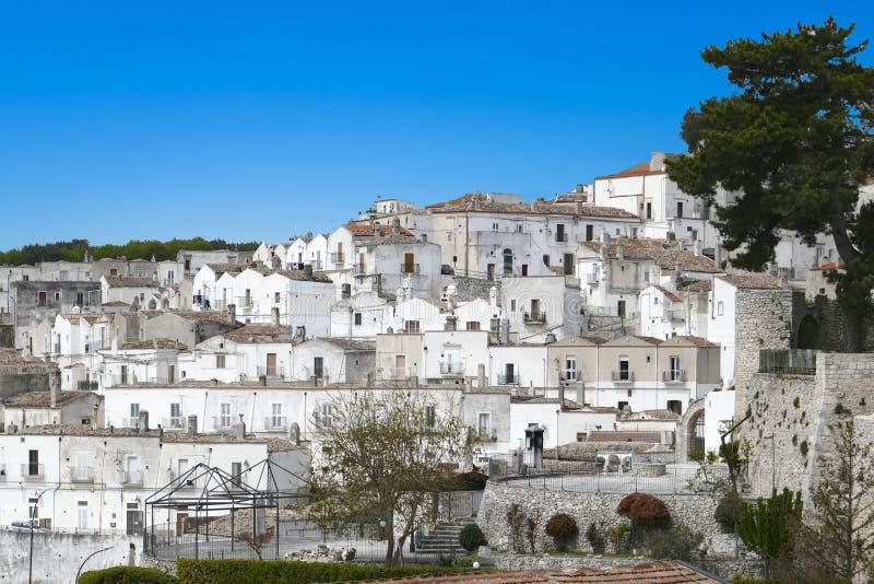 Scenic sight in Monte Sant`Angelo, ancient village in the Province of Foggia, Apulia Puglia, Italy stock photo