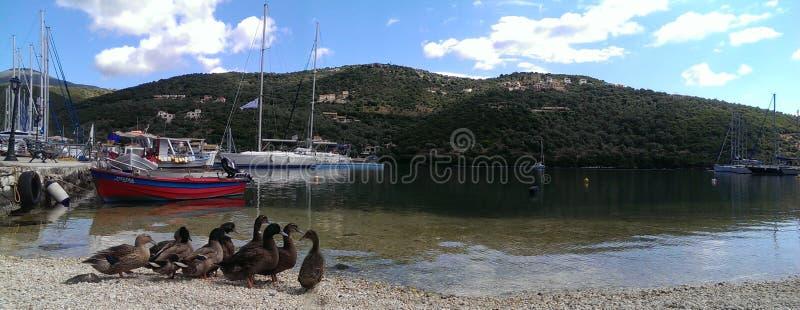 Scenic Sivota Bay Lefkada Greece royalty free stock images
