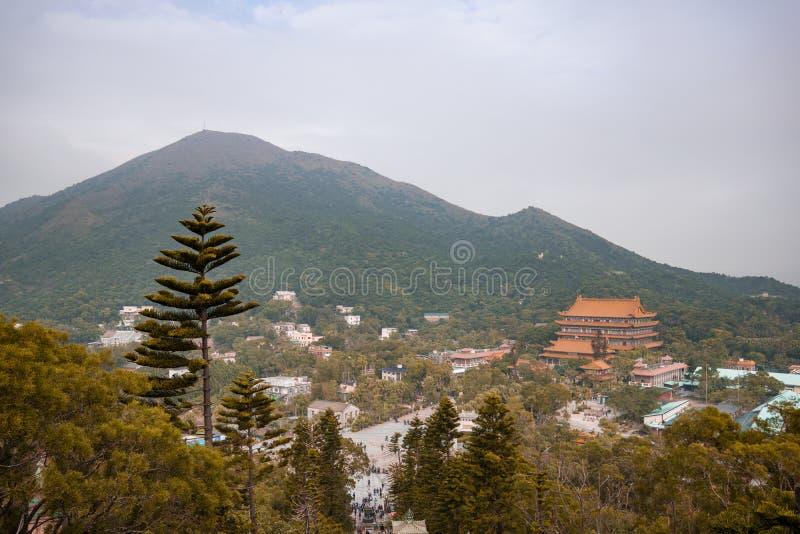 Scenic Splendor of Ngong Ping, Lantau Island, Hong Kong. royalty free stock images