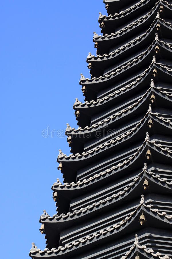 Scenic spot building �� pagoda. Close up of scenic spot building �� pagoda royalty free stock photos