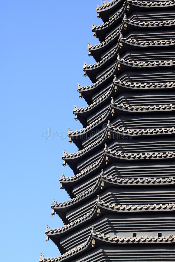 Scenic spot building pagoda. Close up of scenic spot building pagoda royalty free stock photography