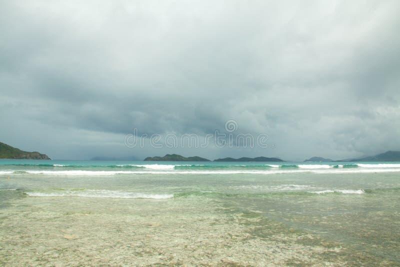 Scenic stormy water