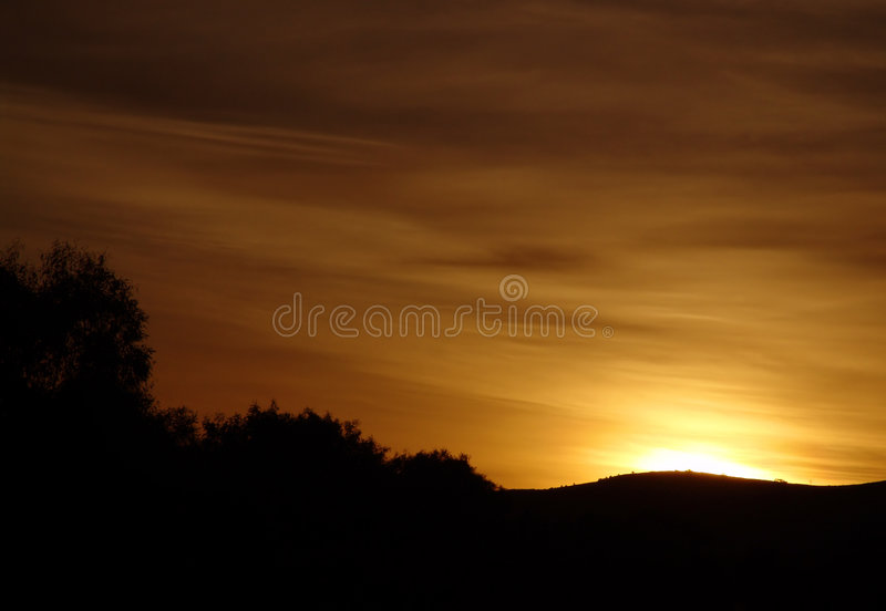 Download Scenic Sunrise stock image. Image of horizon, black, silhouette - 171225