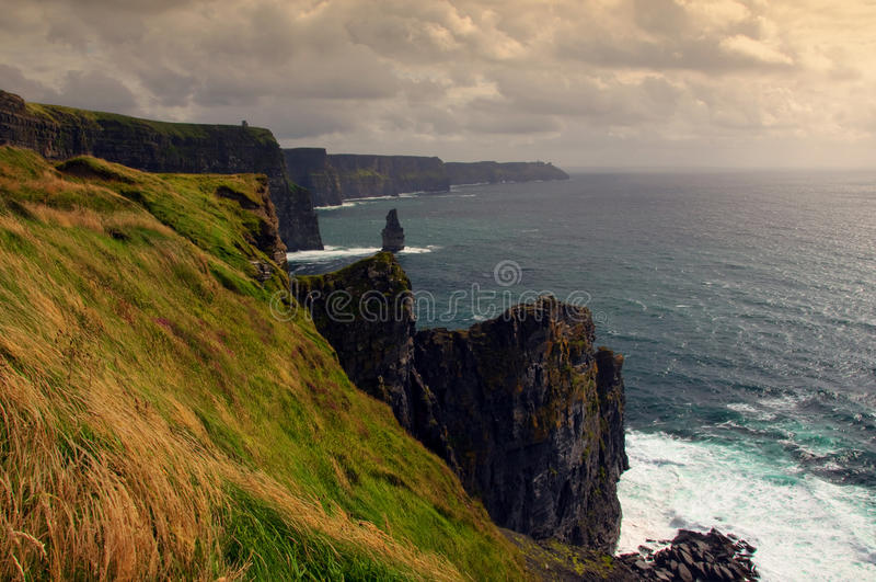 Download Scenic Sunset View Of The Cliffs Of Moher, Ireland Stock Photo - Image: 11981354