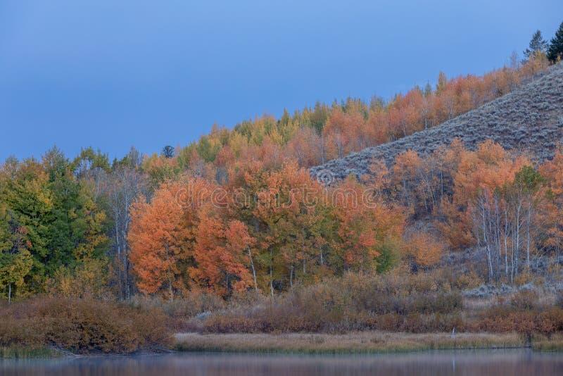 Scenic Teton Autumn Landscape stock photography