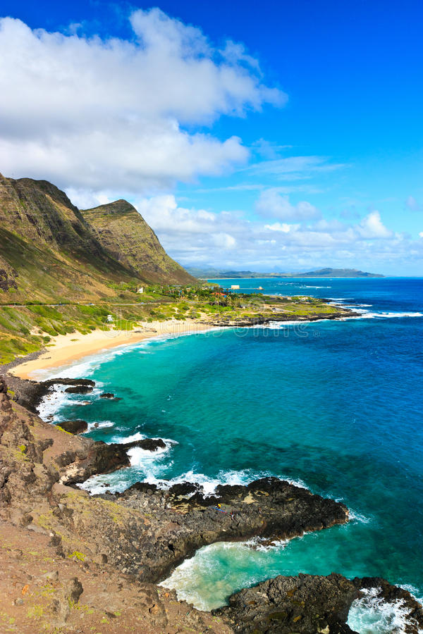 Download Scenic Tropical Coast, Oahu Hawaii Stock Image - Image of point, ocean: 20063835