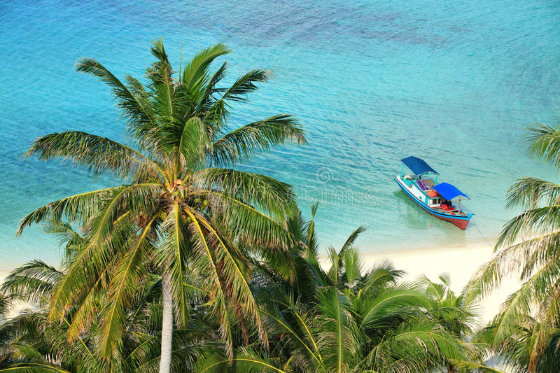 Scenic Of A Tropical Paradise Beach Stock Images