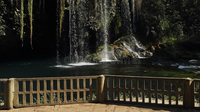 Duden waterfall in Antalya city park, Turkey stock photos