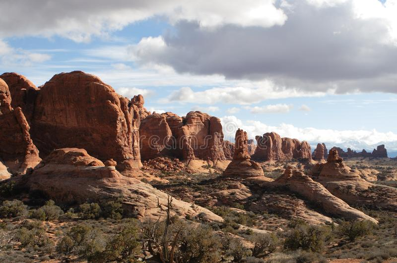 Scenic Utah landscapes in Arches National Park stock photography