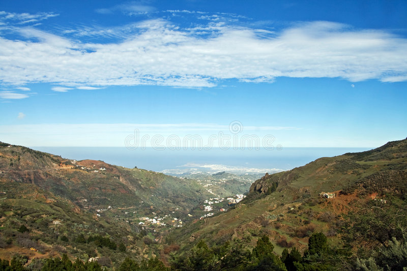 Scenic valley royalty free stock image