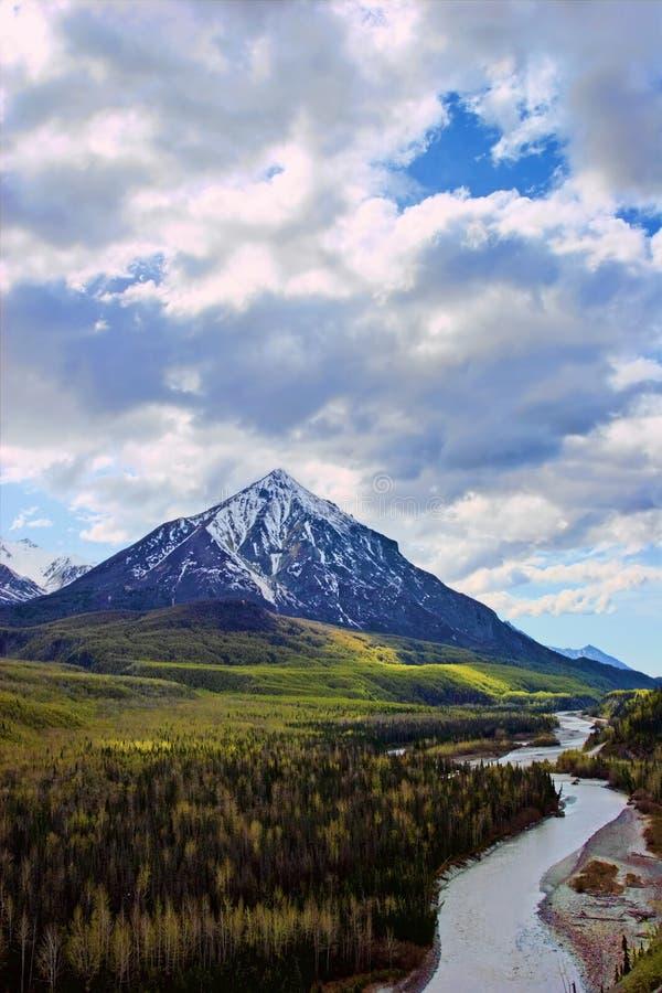Scenic view in Alaska stock photography