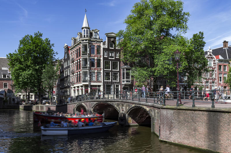 Scenic view in Amsterdam stock photos