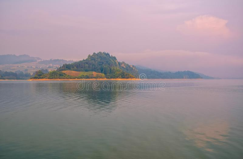 Scenic view of artificial Czorsztynskie Lake in Southern Poland. Scenic view of artificial Czorsztynskie Lake on Dunajec river, Southern Poland stock photography