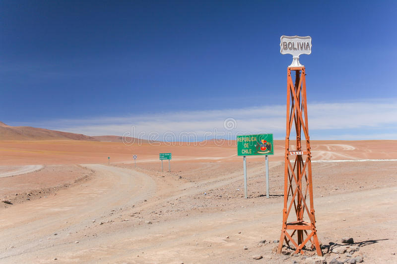 A scenic view of the Atacama desert / Chile and Bolivia border royalty free stock images