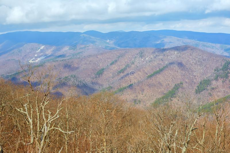 Scenic View from the Blue Ridge Parkway near Waynesboro, Virginia stock images