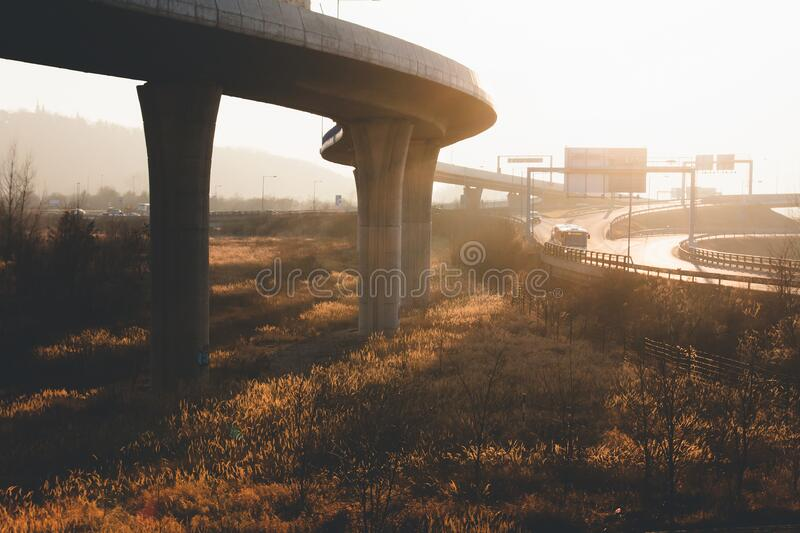 Scenic View of Bridge Against Sky royalty free stock images