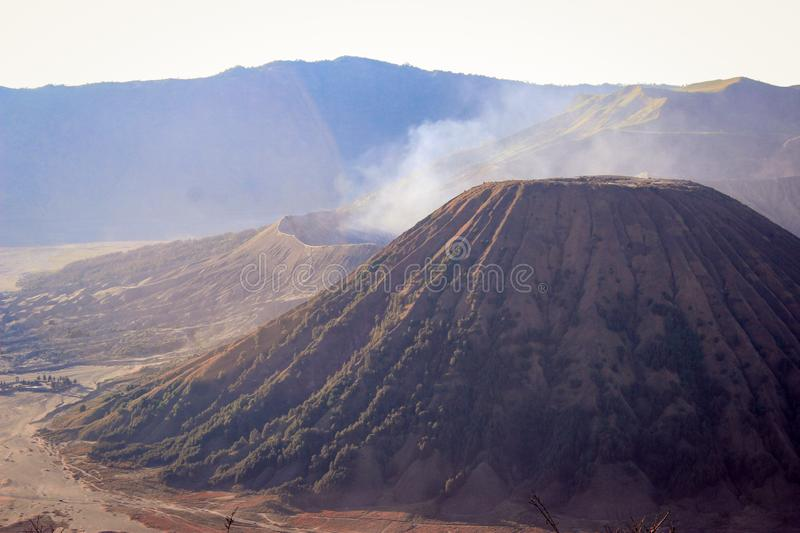Scenic view of Bromo Mountain from another side. This photo was taken in Bromo Mountain, Probolinggo Indonesia stock photography