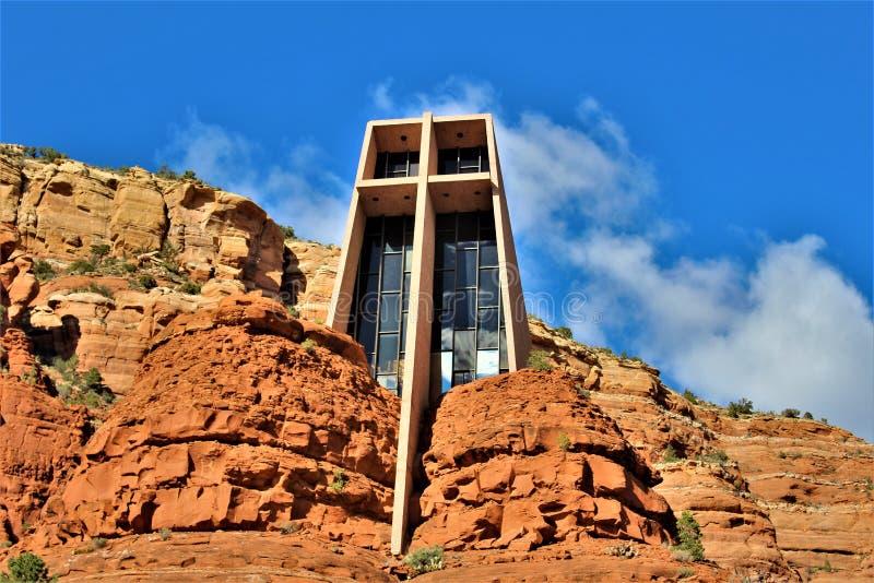 Chapel of the Holy Cross, Sedona, Arizona, United States. Scenic view of Chapel of the Holy Cross during the Spring, located in Sedona, Arizona, United States stock photo