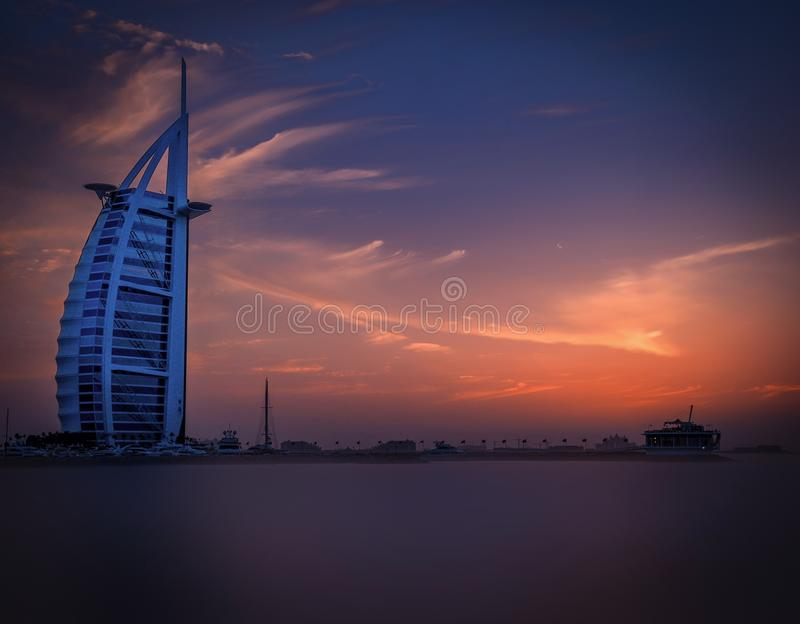 Scenic View of City at Sunset royalty free stock photos