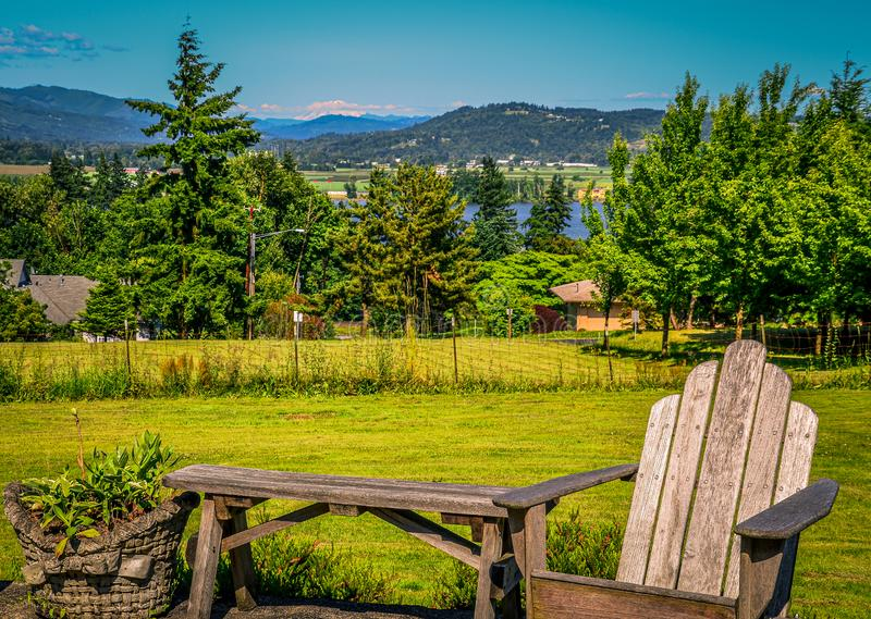 Mount Hood from the Backyard royalty free stock photo