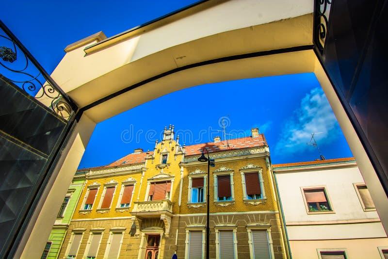Colorful architecture in Croatia, Koprivnica. stock photography
