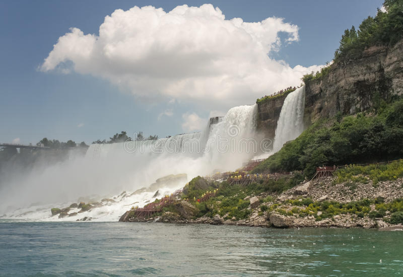 Cloud over Niagara Falls royalty free stock photos