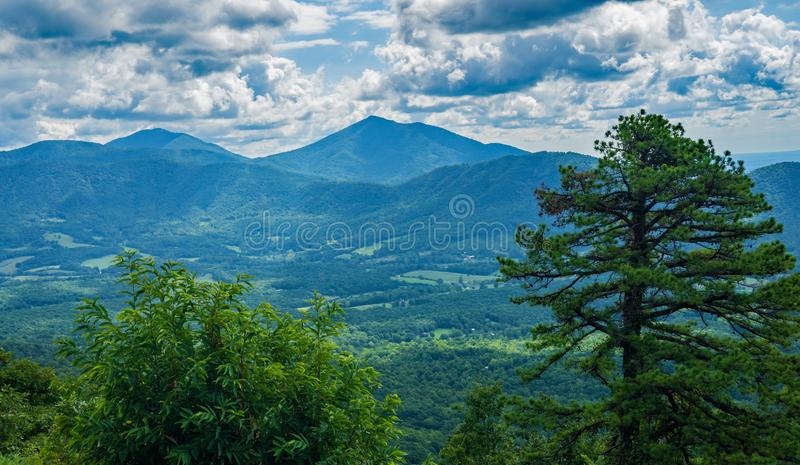 View of the Peaks of Otter royalty free stock image