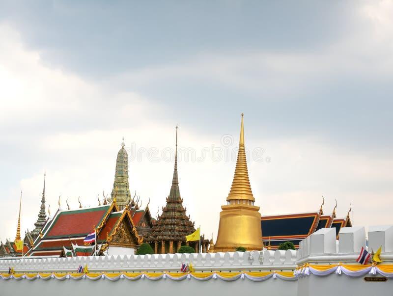 Grand Palace Emerald Temple in Bangkok Thailand. Scenic View of Grand Palace Emerald Temple in Bangkok Thailand stock photo