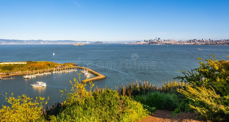 Scenic view of Horseshoe Bay and San Francisco.United States. Scenic view of Horseshoe Bay and San Francisco. California, United States stock images
