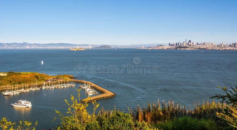 Scenic view of Horseshoe Bay and San Francisco. California, United States royalty free stock photo