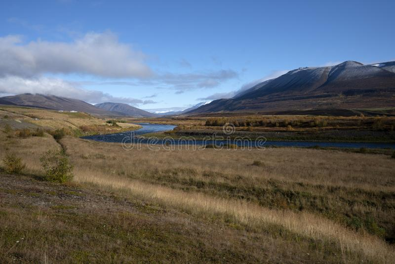 Scenic view of Icelandic landscape during road tour in Iceland royalty free stock photo