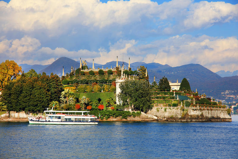 Scenic view of the Isola Bella, Lago Maggiore, Italy, Europe royalty free stock photo