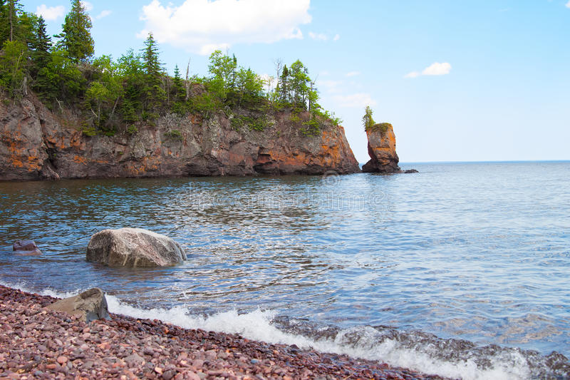 Scenic view of the Lake Superior shoreline royalty free stock photos