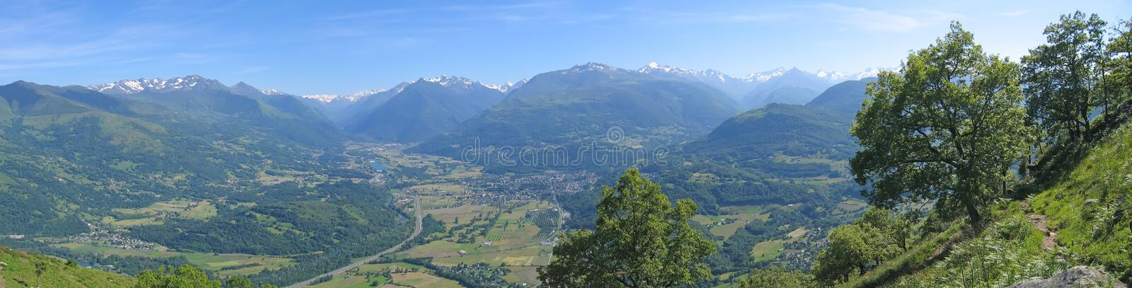 Scenic view from the Lourdes stock photos